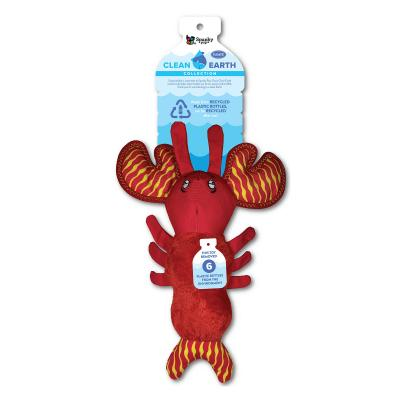 Spunky Pup Clean Earth Lobster Large Plush Squeak Toy For Dogs
