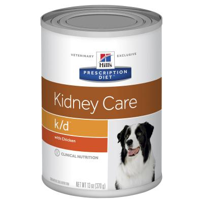 Hills Prescription Diet Canine k/d Kidney Care Chicken Canned Wet Dog Food 370gm X 12 (7010)