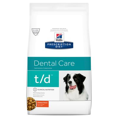 Hills Prescription Diet Canine t/d Dental Care Chicken Dry Dog Food 11.3kg (4018)