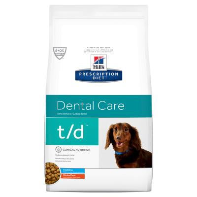 Hills Prescription Diet Canine t/d Dental Care Small Bite Chicken Dry Dog Food 2.25kg (4005)