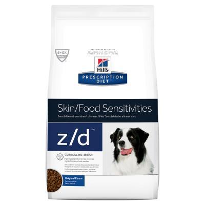 Hills Prescription Diet Canine z/d Skin/Food Sensitivity Original Dry Dog Food 3.6kg (7901)