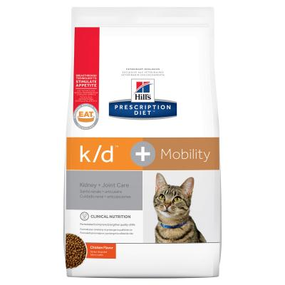 Hills Prescription Diet Feline k/d + Mobility Kidney Plus Joint Care Chicken Dry Cat Food 2.89kg (10859)
