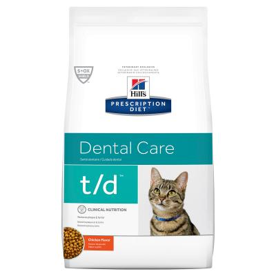 Hills Prescription Diet Feline t/d Dental Care Chicken Dry Cat Food 1.5kg (10363HG)
