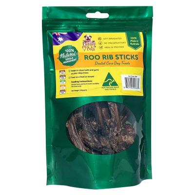 Loving Pets Roo Rib Sticks Natural Dried Treats For Dogs 100gm