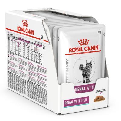 Royal Canin Veterinary Diet Feline Renal Tuna Pouch Wet Cat Food 85gm x 12 (AK06V)