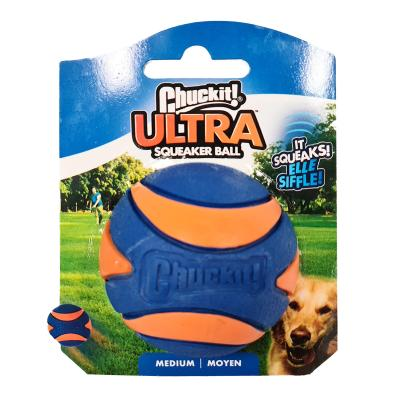 Chuckit Ultra Squeaker Ball Medium Fetch Rubber Toy For Dogs 6cm 1 Pack