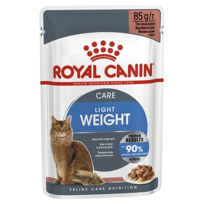 Royal Canin Bundle Light Weight Care Adult Wet And Dry Cat Food