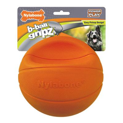 Nylabone Power Play Basketball B-Ball Gripz Large Toy For Dogs Up to 25kg
