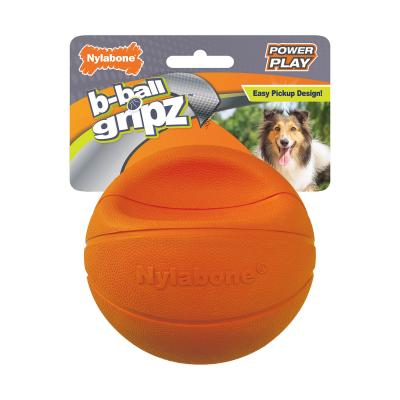 Nylabone Power Play Basketball B-Ball Gripz Medium Toy For Dogs Up To 16kg