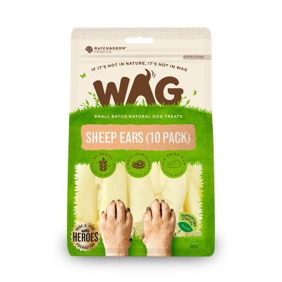 WAG Sheep Ears Natural Dried Treats For Dogs 10 Pack