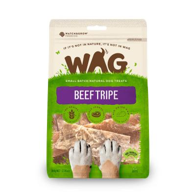 WAG Beef Tripe Natural Dried Treats For Dogs 200g
