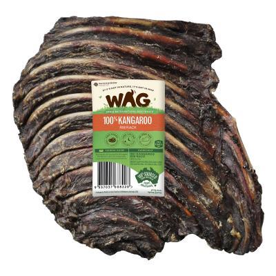 WAG Kangaroo Rib Rack Natural Dried Treat For Dogs