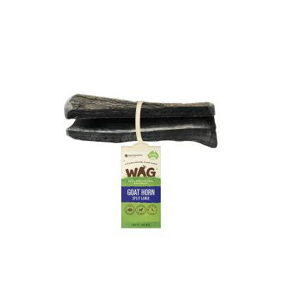 WAG Split Goat Horn Natural Dried Large Treat For Dogs