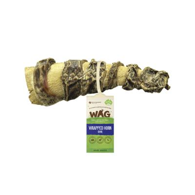 WAG Wrapped Goat Horn Core With Kangaroo Jerky Natural Dried Treat For Dogs