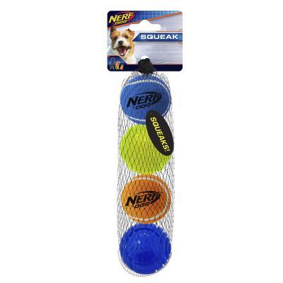 Nerf Ball Blaster Pack Squeaker Tennis Balls And Rubber LED Light Balls Small 5cm 4 Pack