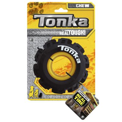 Tonka Seismic Tread Tyre Real Tire Tough Rubber Toy For Dogs