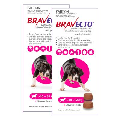 Bravecto For Very Large Dogs 40-56kg 4 Chews
