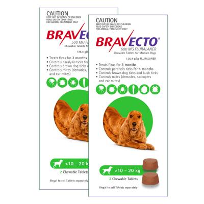 Bravecto For Medium Dogs 10-20kg 4 Chews