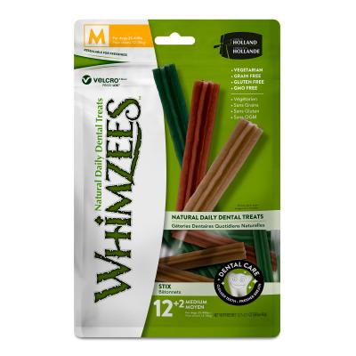 Whimzees Dental Stix Medium Treats For Dogs 12-18kg 14 Pack 420gm