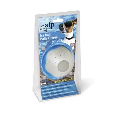 AFP Chill Out Ice Ball White Freezable Large Toy For Dogs