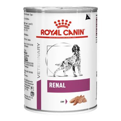 Royal Canin Veterinary Diet Canine Renal Canned Wet Dog Food 410gm x 12 (AN68A)