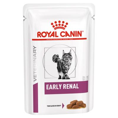 Royal Canin Veterinary Diet Feline Early Renal Pouches Wet Cat Food 85gm x 12