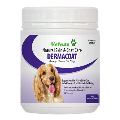 Vetnex DermaCoat Omega Chews Natural Skin And Coat Care For Dogs 300gm