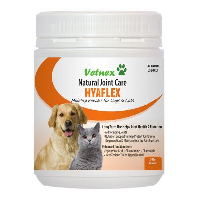 Vetnex Hyaflex Mobility Powder Natural Joint Care For Dogs And Cats 200gm