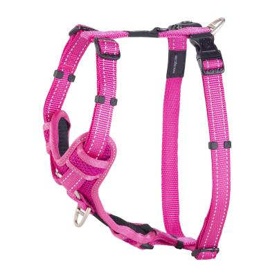 Rogz Control Reflective Padded Harness Pink Large For Dogs 45-75cm Girth