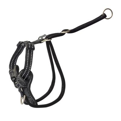 Rogz Utility Stop Pull Reflective Harness Black Medium For Dogs 32-52cm Girth