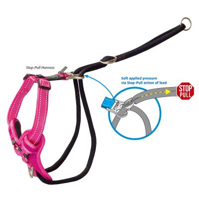 Rogz Utility Stop Pull Reflective Harness Black XLarge For Dogs 60-100cm Girth