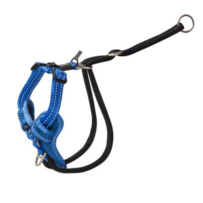Rogz Utility Stop Pull Reflective Harness Blue Medium For Dogs 32-52cm Girth