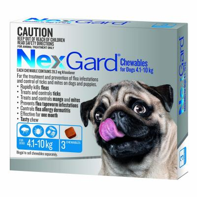 NexGard For Dogs Blue Small 4.1-10kg 3 Pack