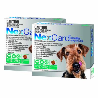 NexGard For Dogs Green Medium 10.1-25kg 9 Pack