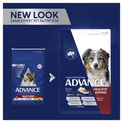 Advance Healthy Ageing Chicken All Medium Breed Mature/Senior 6+ Years Dry Dog Food 40kg