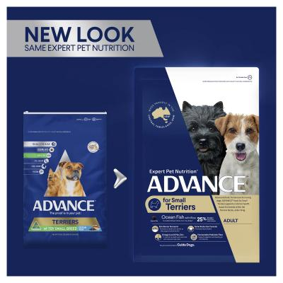 Advance Ocean Fish With Rice Small Breed Terriers Adult Dry Dog Food 2.5kg