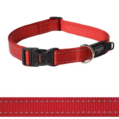 Rogz Utility Reflective Collar Red XLarge For Dogs 43-70cm x 25mm