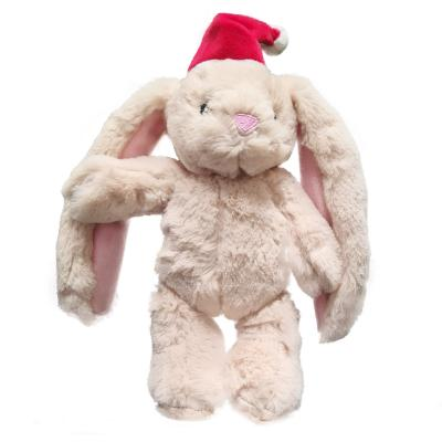 Kazoo Christmas Bunny With Santa Hat Plush Squeak Medium Toy For Dogs
