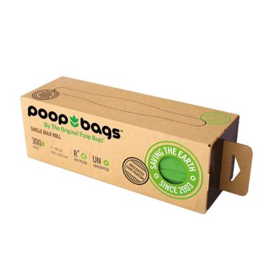 Poop Bags Eco Friendly Original Green Single Bulk Roll For Dogs 300 Pack