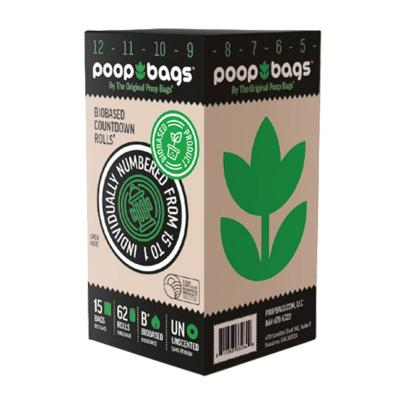 Poop Bags Eco Friendly Original Countdown Green For Dogs 64 Rolls 960 Bags