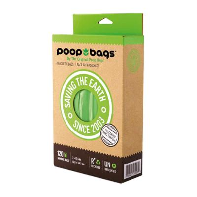 Poop Bags Eco Friendly Original Green With Handles For Dogs 120 Pack