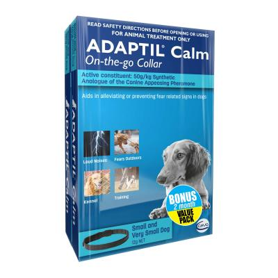 Adaptil Calm On-The-Go Collar Bonus 2 Pack For Small Dogs 45cm Fits Necks Up to 37.5cm