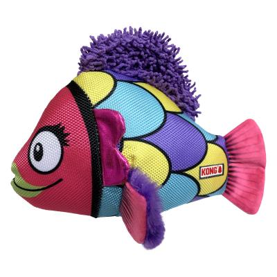 KONG Reefz Assorted Character Plush Squeak Large Toy For Dogs