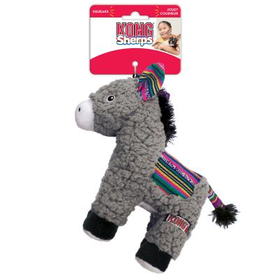 KONG Sherps Donkey Plush Crinkle Squeak Toy For Dogs
