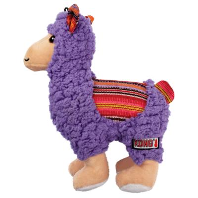 KONG Sherps Llama Plush Crinkle Squeak Toy For Dogs