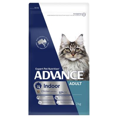 Advance Indoor Chicken With Rice Adult Dry Cat Food 2kg