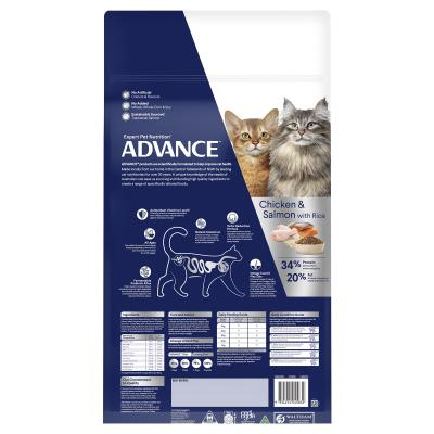 Advance Multi Cat Chicken And Salmon Adult 1-8yrs Dry Cat Food 20kg