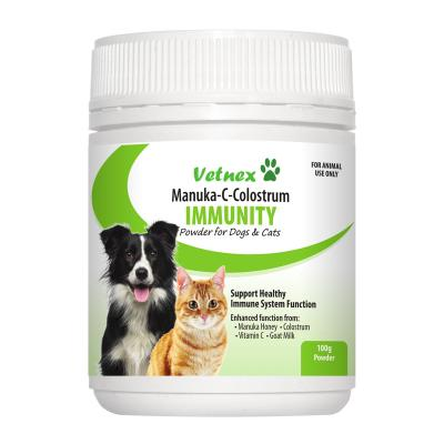 Vetnex Manuka C Colostrum Immunity Powder For Dogs And Cats 100g