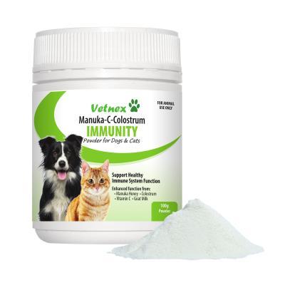 Vetnex Manuka C Colostrum Immunity Powder For Dogs And Cats 100g