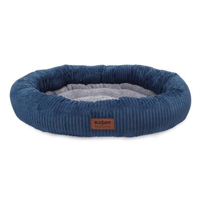 Kazoo Gumnut Plush Navy Bed Large For Dogs